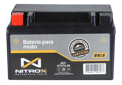 Imagen 1 de 2 de Batería Nitrox  Moto Kymco Agility 125