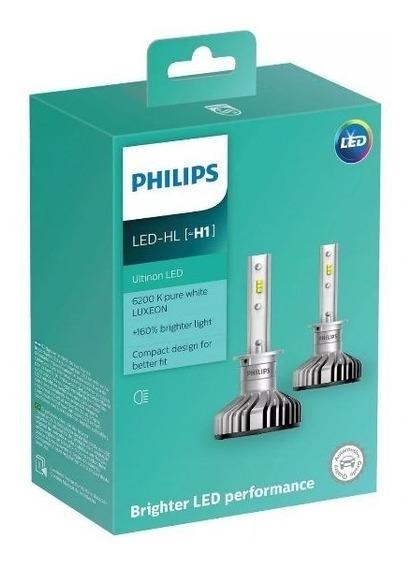 Par Lâmpada Philips Ultinon Led H1 6200k Super Branca 12v + Nota Fiscal