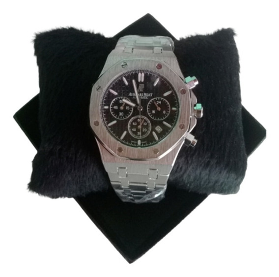 Relógio Audemars Piguet Preto Prata - Todo Funcional