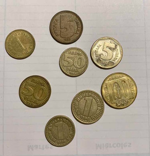 Lote De 8 Monedas Yugoslavia Detalles En Descripcion