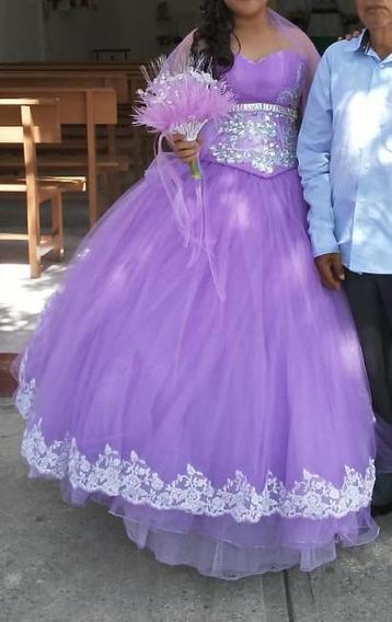 Xv Años Vestido Y Accesorios Color Lila