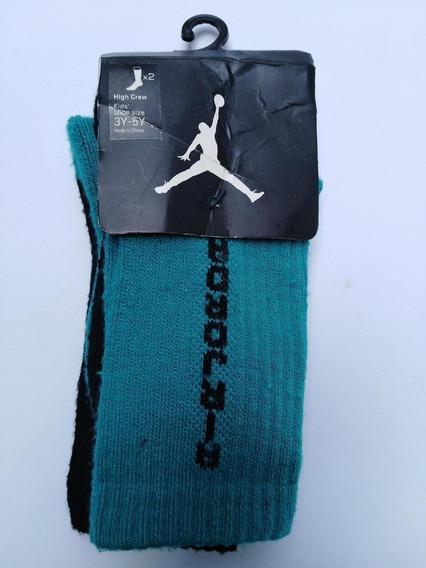 Jordan Jumpan Socks Jr 21-23cm Verdeneg $299 Nuevo Sopormike