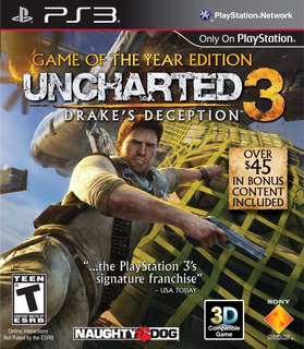 Uncharted 3: Drakes Deception Nuevo Envio Gratis
