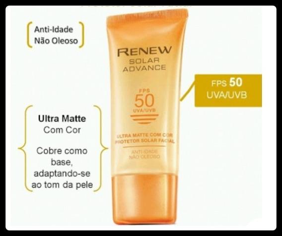 Renew Solar Advance Protetor Ultra Matte Com Cor Fps50