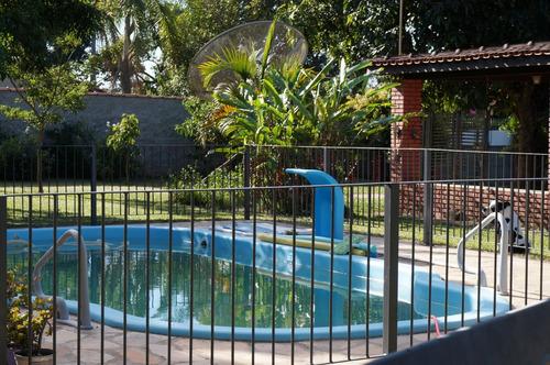 Imagem 1 de 14 de Linda Chácara Em Sarapuí - 2100 M2 Murada Com Piscina