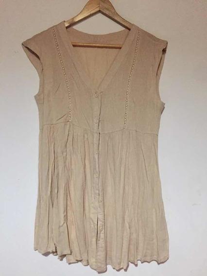 Vestido De Bambula Abotonado