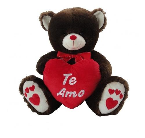Imagen 1 de 2 de Oso C/corazon Peluche 46cm Extrema Calidad San Valentin @mca