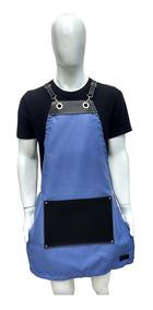 Avental Cozinha Feminino Jeans E Couro Vintage Retro