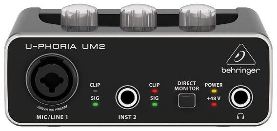 Placa De Sonido Externa Behringer Um2 2x2 Audio Usb
