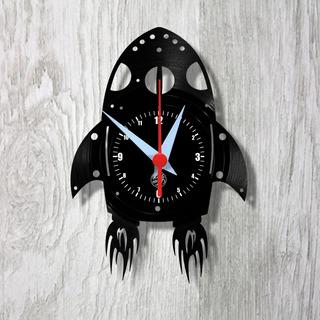 Foguete Espaço Infantil Relógio Vinil Parede Lp