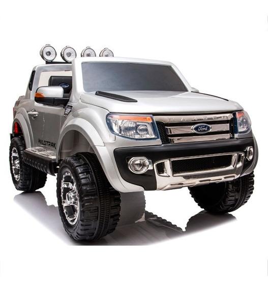 Camioneta Ford Ranger Auto A Batería Gris Con R/c 12v