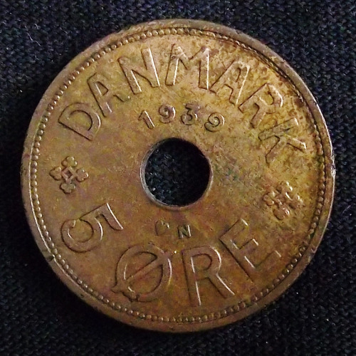 Dinamarca 5 Ore 1939 Mb Km 828.2