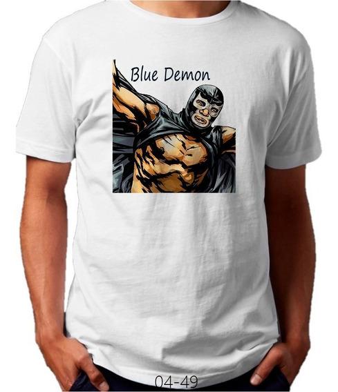 Playera Blue Demon Volando Lucha Libre #04-49