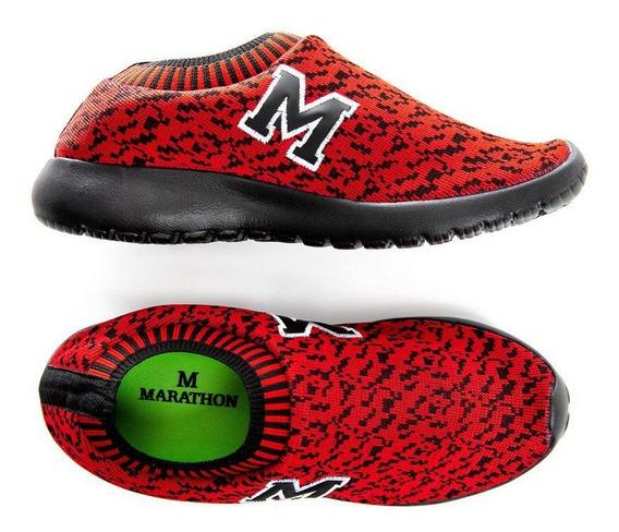 Tenis Marathon Anfibio Confort Neoprene Vermelho/pto