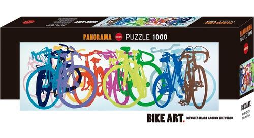 Rompecabezas 1000 Pzas Panorámico:bike Art/bicicleta Colores