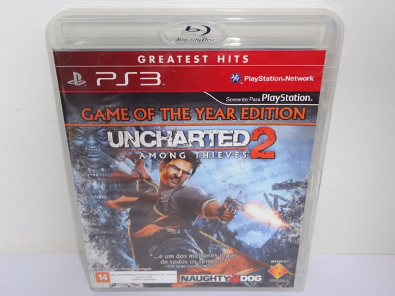 Uncharted 2 Among Thieves Ps3 Midia Física Na Caixinha