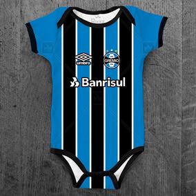 Body Grêmio Infantil Futebol Personalizado Com O Nome Bebê