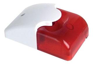 Sirena Con Estrobo Hc103 Color Rojo Para Alarmas Longhorn