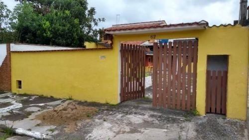Imagem 1 de 11 de Casa Lado Praia, Com Churrasqueira E 2 Quartos Em Itanhaém
