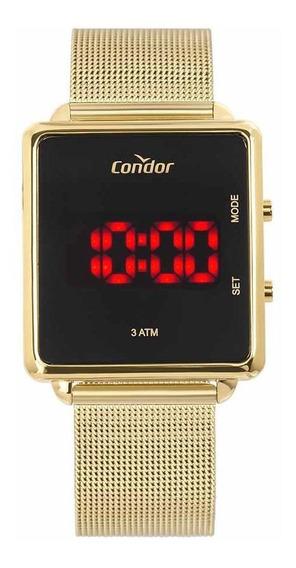Relógio Condor Feminino Cojhs31baa/4x Led Digital Dourado