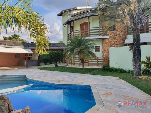 Sobrado Com 4 Dormitórios Para Alugar, 542 M² Por R$ 13.000,00/mês - Helvétia Country - Indaiatuba/sp - So0485