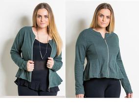 Jaqueta Plus/size Moda/feminina