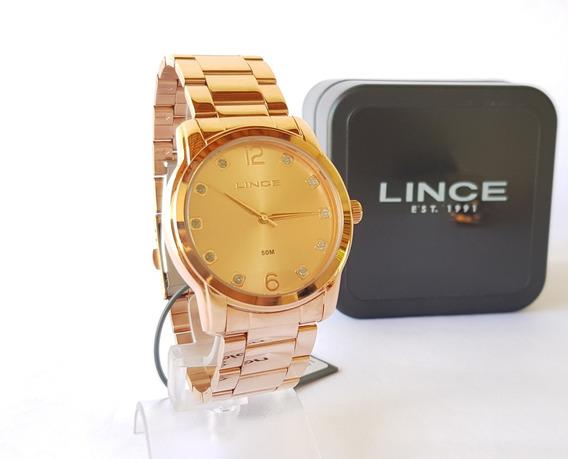 Relógio Lince Feminino Rose Original Luxo