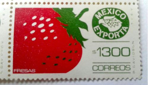 Imagen 1 de 2 de Timbres Postales México Exporta Fresas