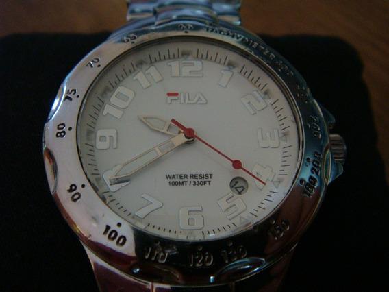 Reloj Fila Caratula Sport Blanca. Todo D Acero Inoxidable.