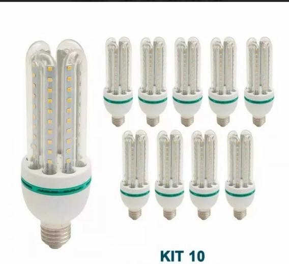 Kit 10 Lampada Led Milho 4u Bivolt Branco Frio Super Led 32w