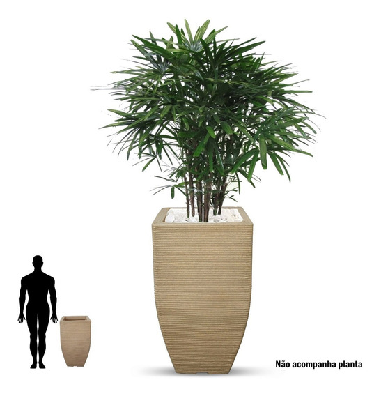 1 Vaso De Planta Resina Plastico Polietileno Grande T 75x40