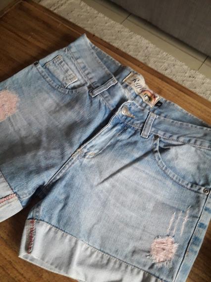 Short De Jeans Marca Riffle Talle 40