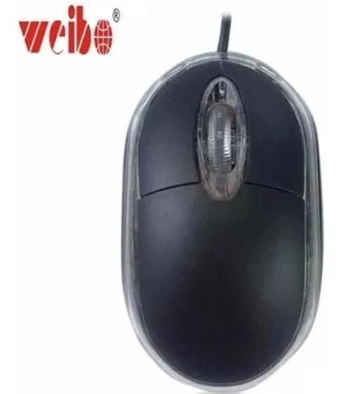 Mouse Com Fio Usb Weibo M36 2000dpi 3 Botões Nfe