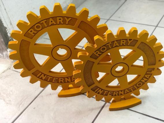 Engrane Rotario De Madera Rotary International Mediano
