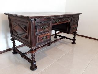 Antiga Escrivaninha Império - Jacarandá - Impecável