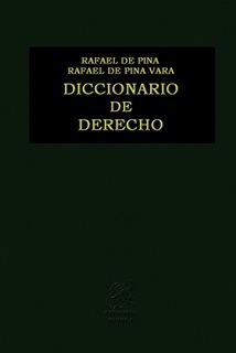 Diccionario De Derecho Guía Libro Editorial Porrúa