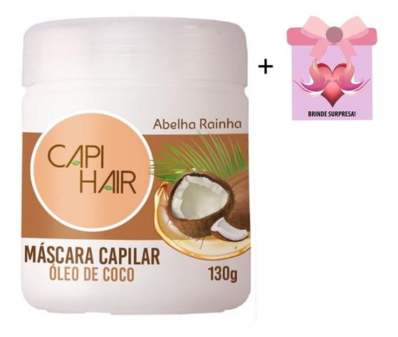 Máscara Capilar Óleo De Coco Capi Hair Abelha Rainha +brinde