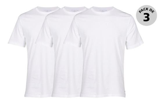 Paquete De 3 Camisetas Tommy Hombre 09tcr01-100 Blanco