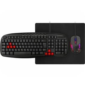 Kit Gamer 3 Em 1 - Km-1328 Teclado + Mousepad + Mouse 12x