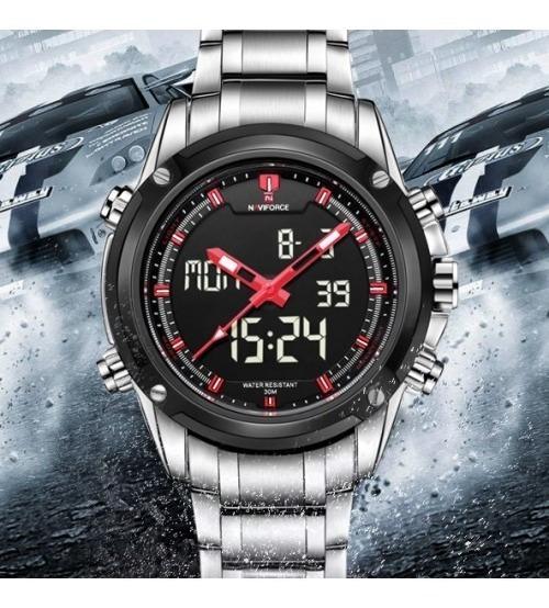 Relógio Naviforce Original Nf9050 Prata Masculino