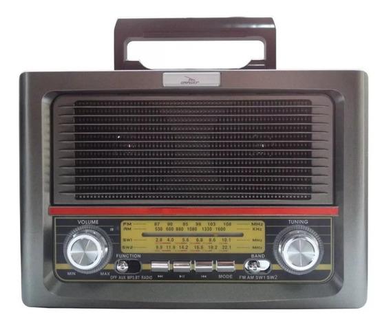 Rádio Antigo Retrô Bluetooth//usb/fm/am Grasep Lacrado