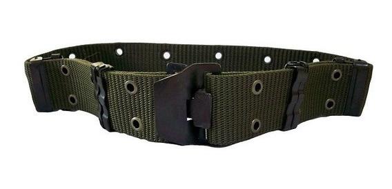 Cinturon Militar Bombero Rescate Hebilla Metalica Negro