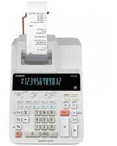 Calculadora Cassio Com Visor Fita De Escritorio Dr-210r-we