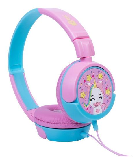 Headphone Fone Kids Criança Unicornio Rosa Hp-304 Oex