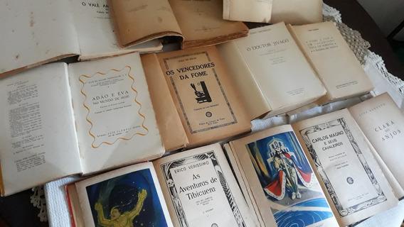 Lote 10 Livros Antigos No Estado-leia Descrição