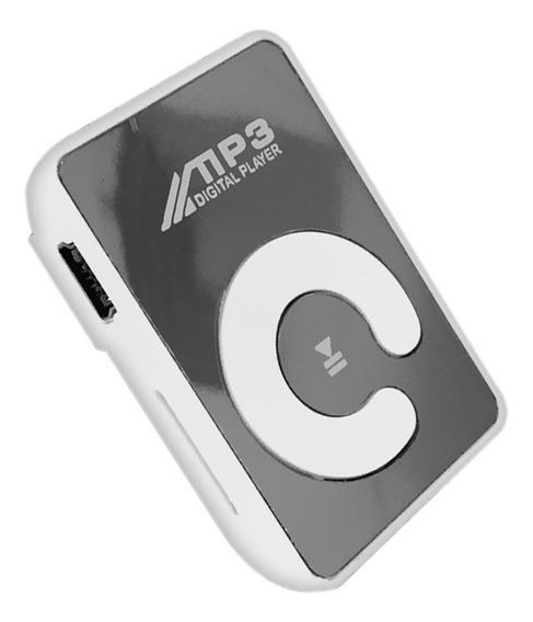 Mini Espelho Clipe Mp3 Player Portátil Moda Esporte Usb