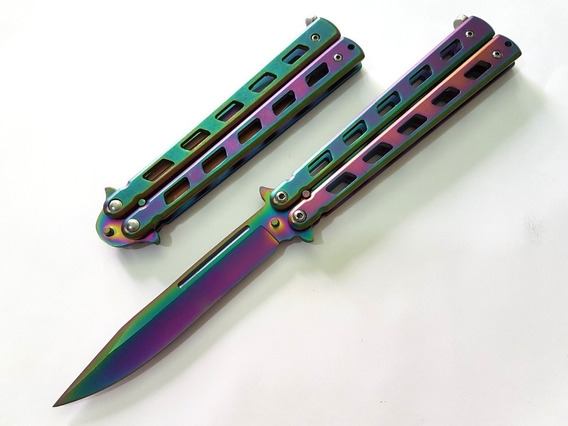 Navaja Mariposa Balisong Wetlands Iridescent Tactica Defensa