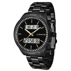 Relógio Lince Feminino Ref: Lan4591l P1px Anadigi Black