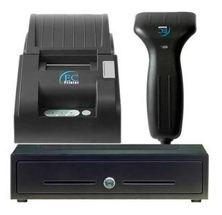 Sistema De Punto De Ventas + Lector De Barras Gaveta Printer