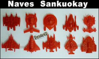 Dante42 Sankuokai Pack 10 Naves Espacial Color Rojo